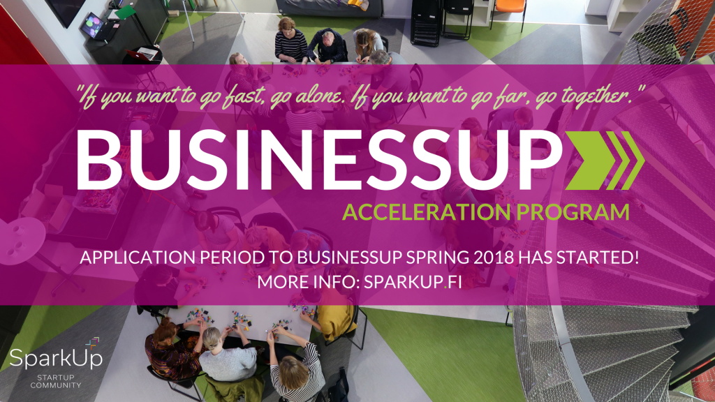 Application period to BusinessUp Spring 2018 has started!