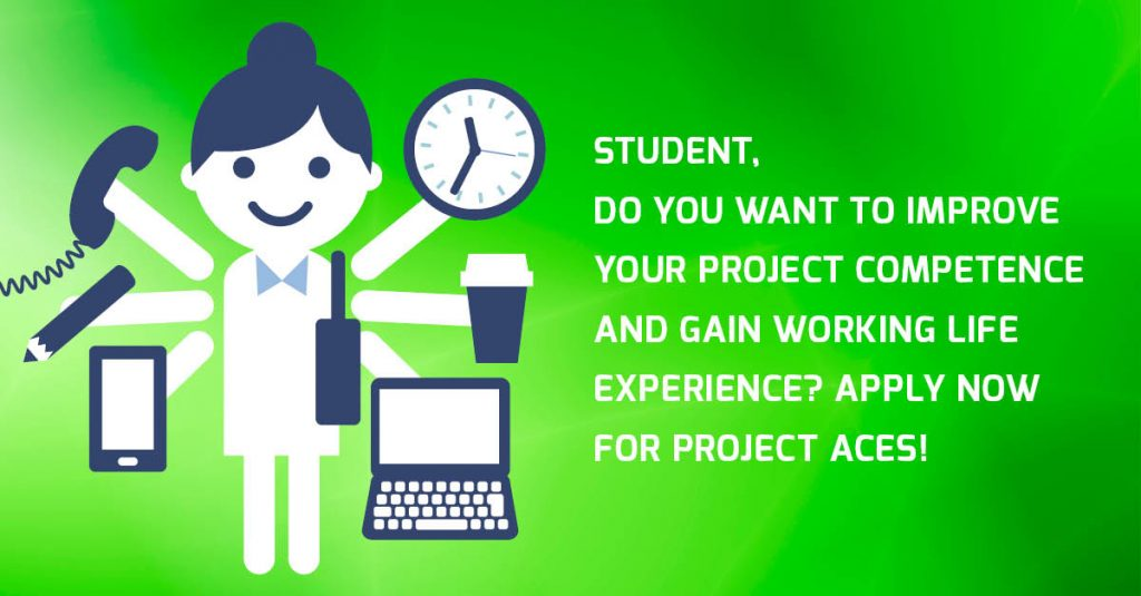 Student! Apply for Project Aces to practice project management!