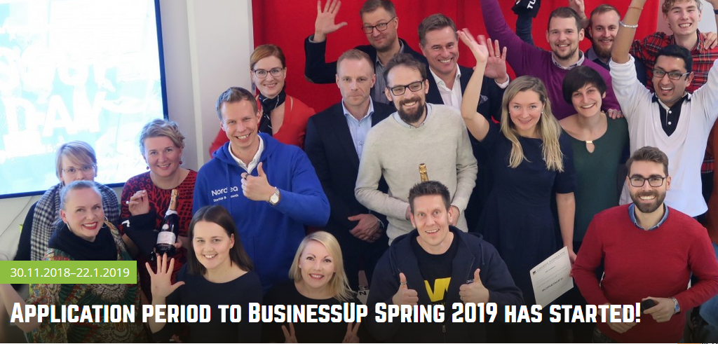Application period to BusinessUp Spring 2019 has started!