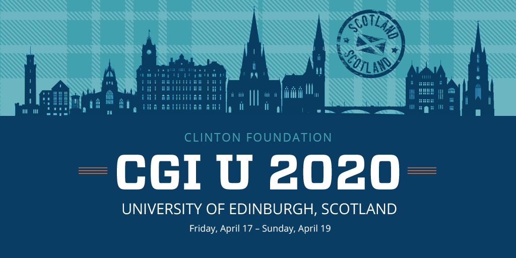 The Clinton Global Initiative University is looking for the best and brightest for CGI U 2020 – Apply by November 4!