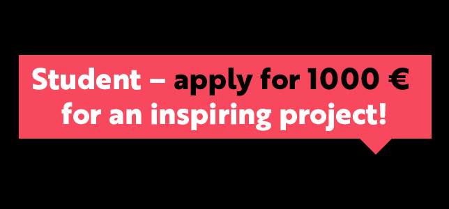 Grant For Student Projects – Apply by April 19!
