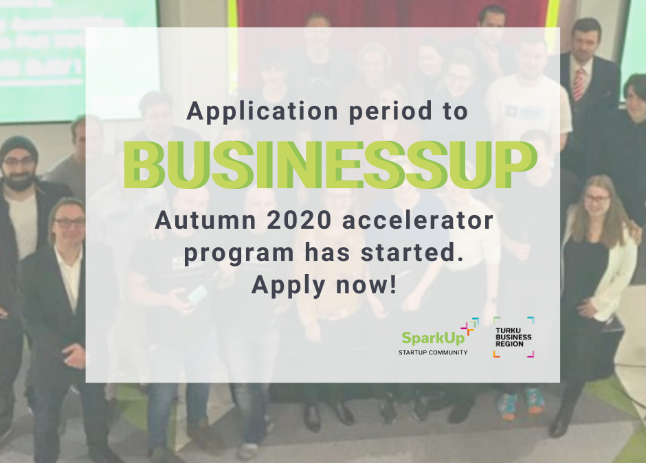 BusinessUp Autumn 2020 is open for applicants!